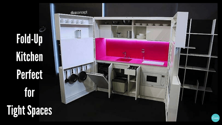 Fold Up Kitchen Perfect For Tiny Dwellings