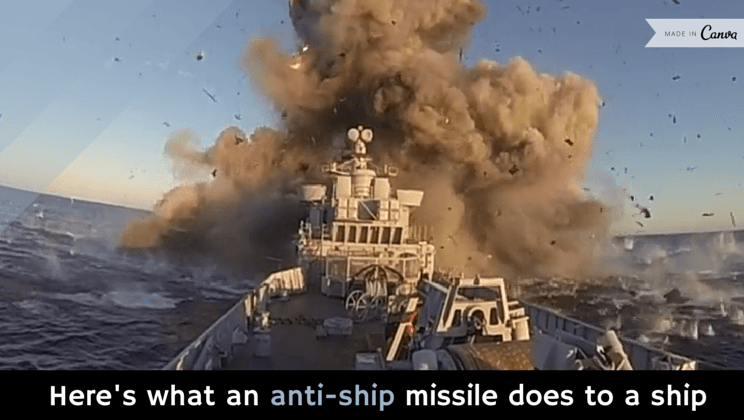 Here's what an anti-ship missile does to a ship [video]
