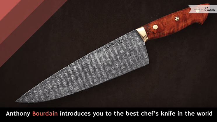 Anthony Bourdain Introduces You To The Best Chef S Knife In World Video