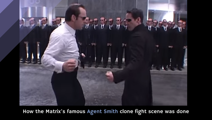 b248b59a8671 How the Matrix's famous Agent Smith clone fight scene was done [video]