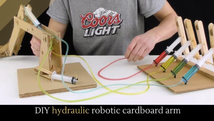 DIY hydraulic robotic cardboard arm - Alltop Viral