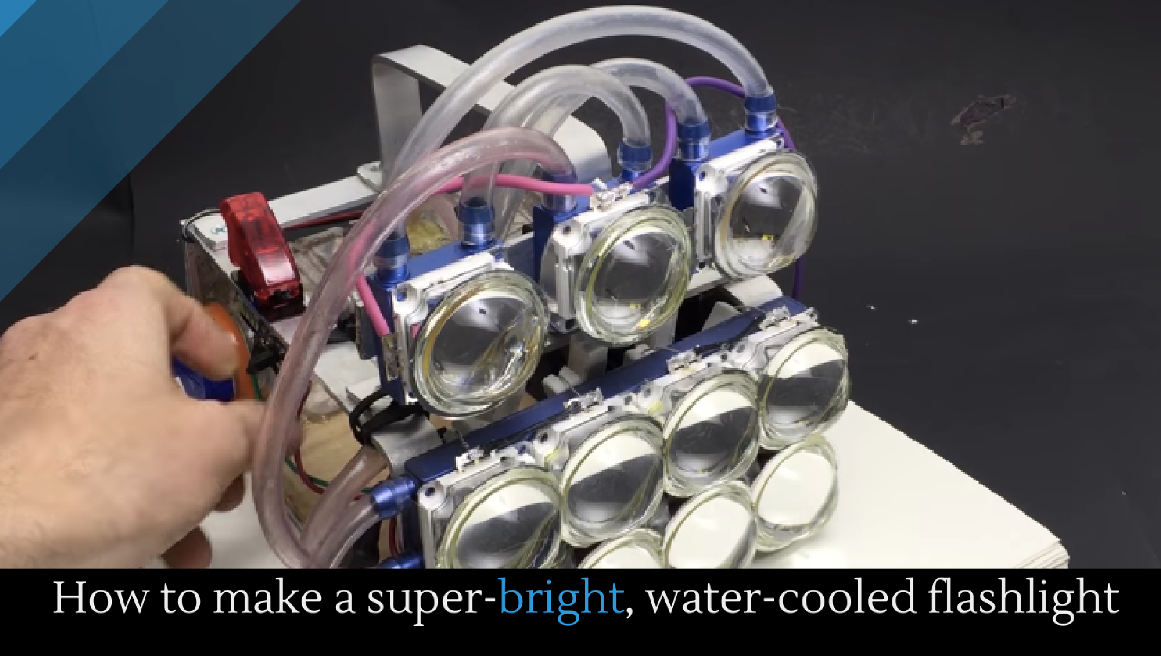 How to make a super-bright, water-cooled flashlight ...