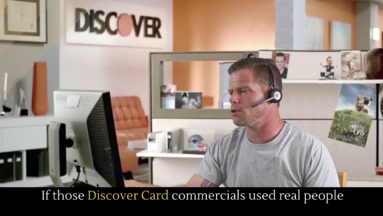 If those Discover Card commercials used real people - Alltop Viral