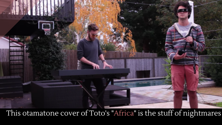 This otamatone cover of Toto's